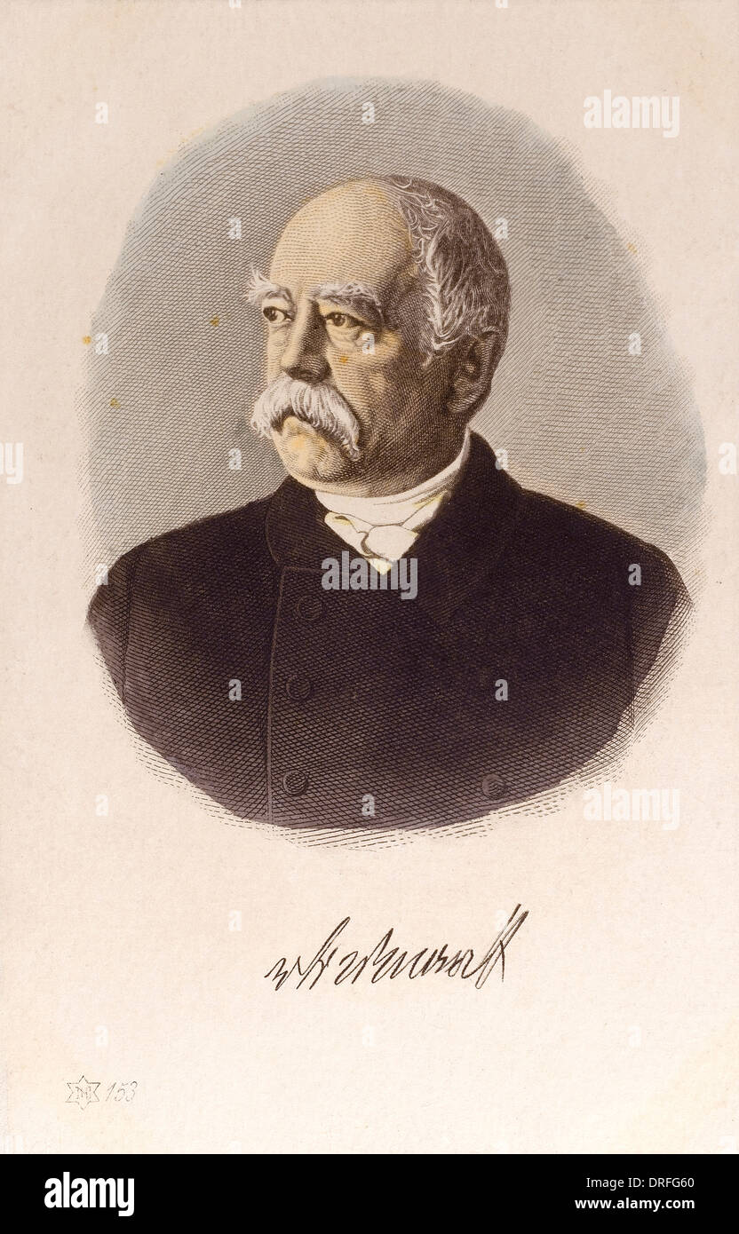 Bismarck - Prussian Statesman - Stock Image