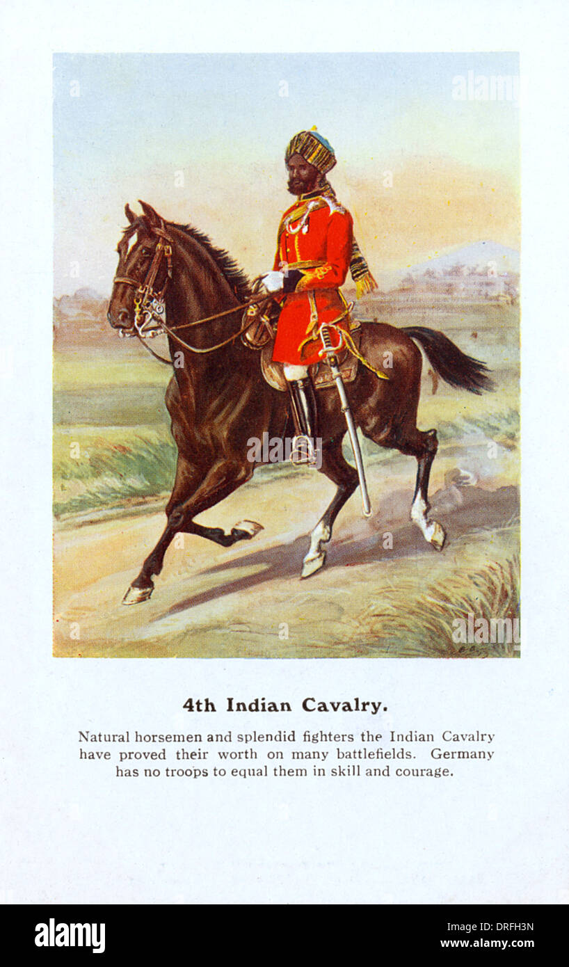 4th Indian Cavalry - WW1 - Stock Image