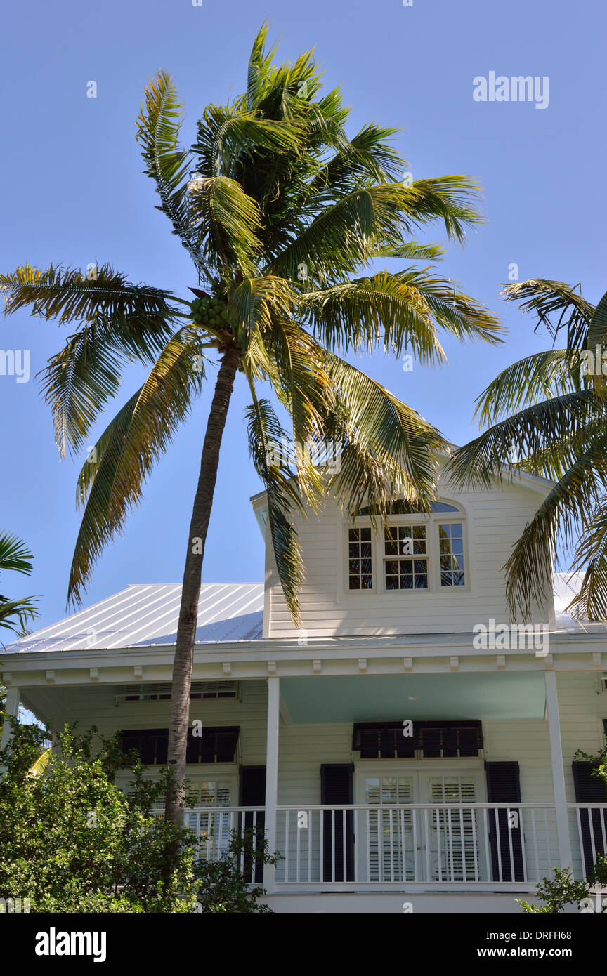 Key West Florida homes and architecture - Stock Image