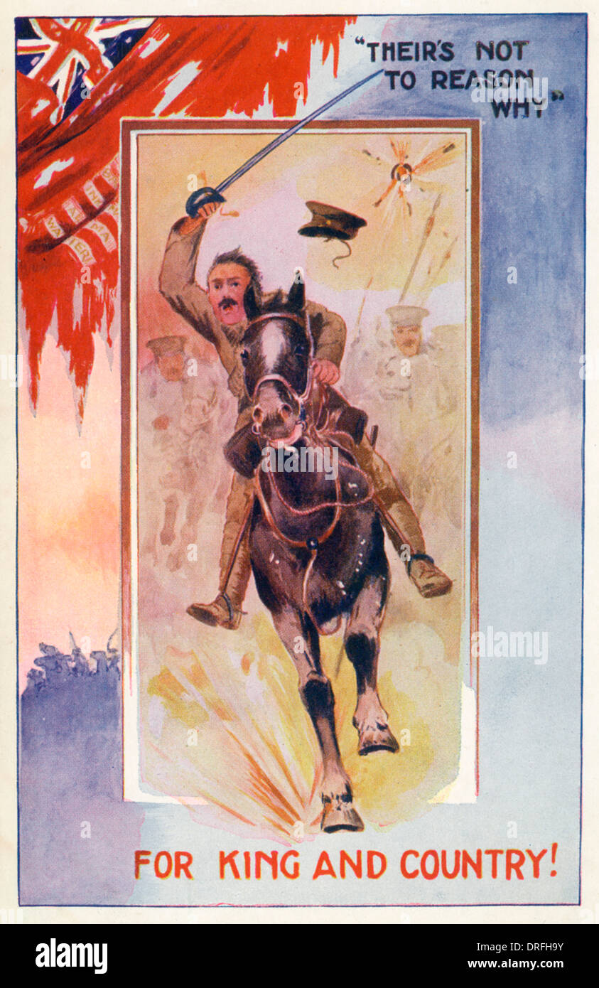 Cavalry Charge - World War One - Stock Image