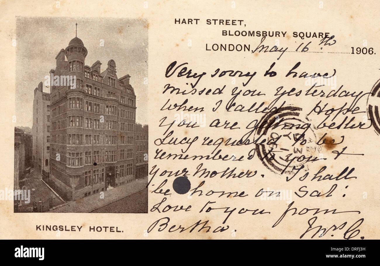 Kingsley Hotel, Bloomsbury Square,London - Stock Image