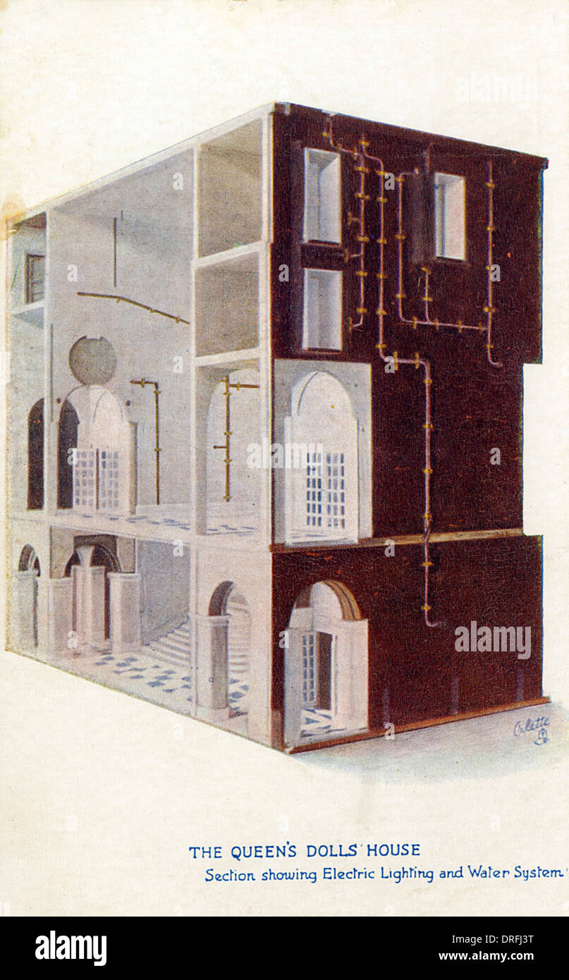 The Queen S Dolls House Stock Photo 66111692 Alamy