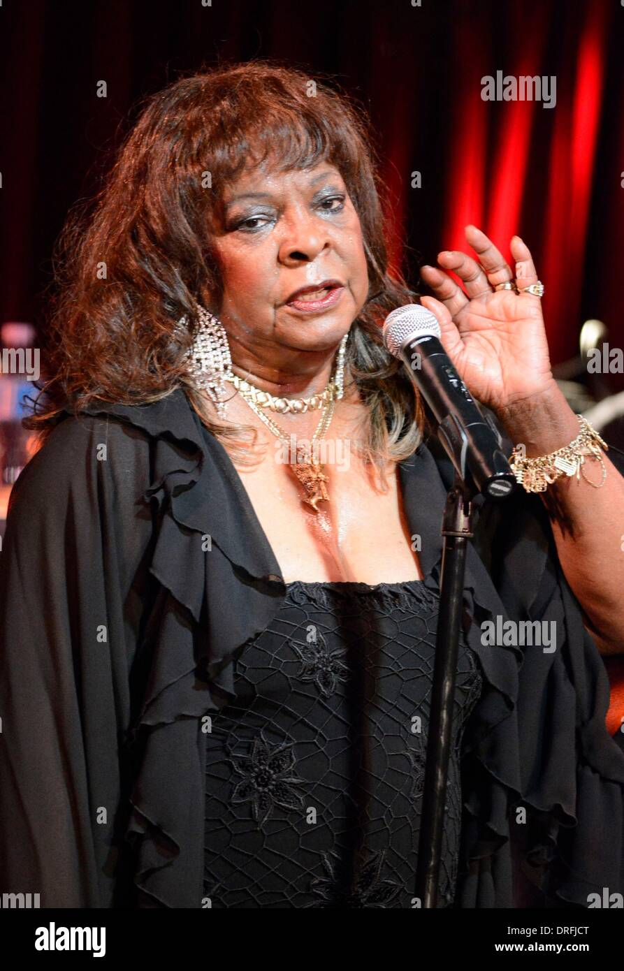 New York, NY, USA. 24th Jan, 2014. Martha Reeves in attendance for Martha Reeves Concert at BB Kings, B.B. King Blues Club and Grill, New York, NY January 24, 2014. Credit:  Derek Storm/Everett Collection/Alamy Live News - Stock Image