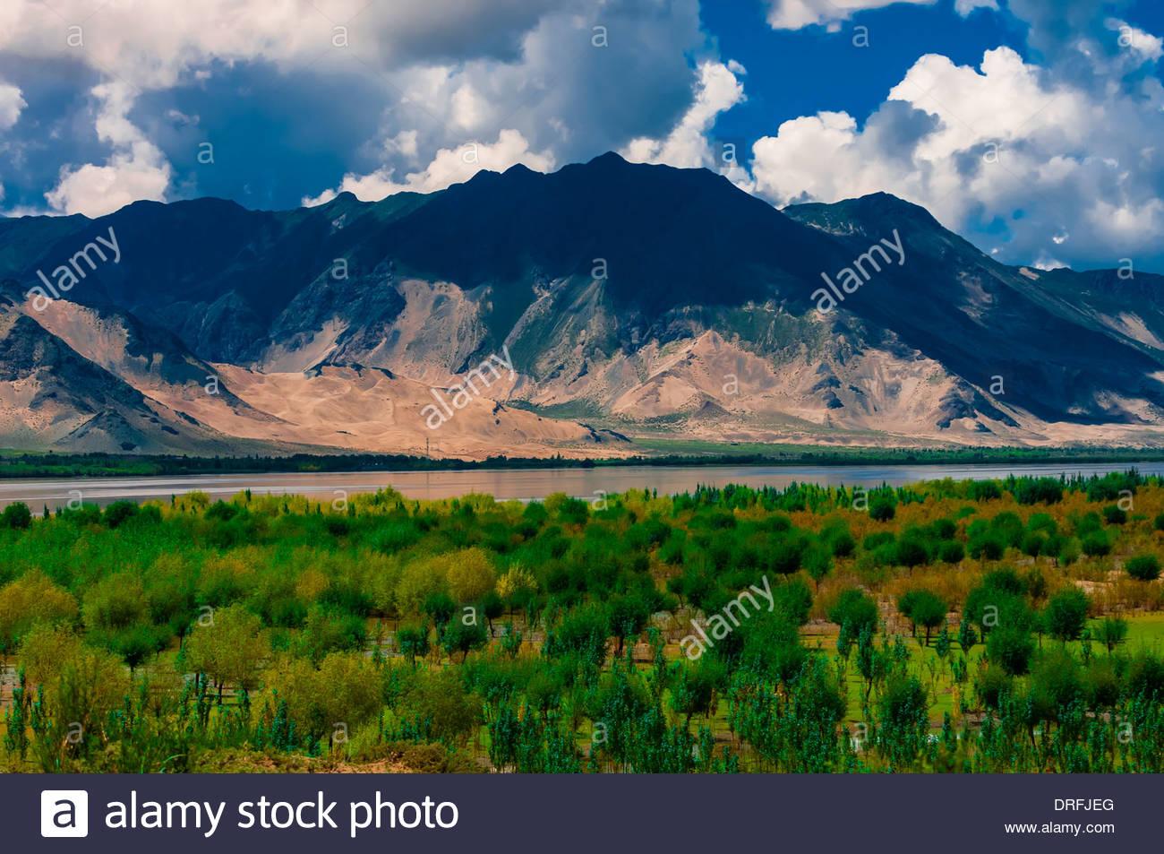 Nedong, Tibet (Xizang), China. - Stock Image
