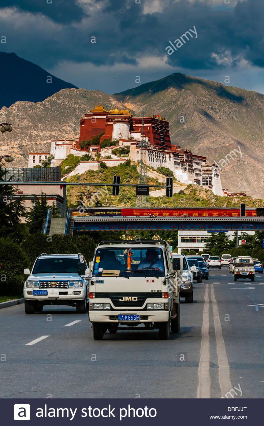 Potala Palace, Lhasa, Tibet (Xizang), China. - Stock Image