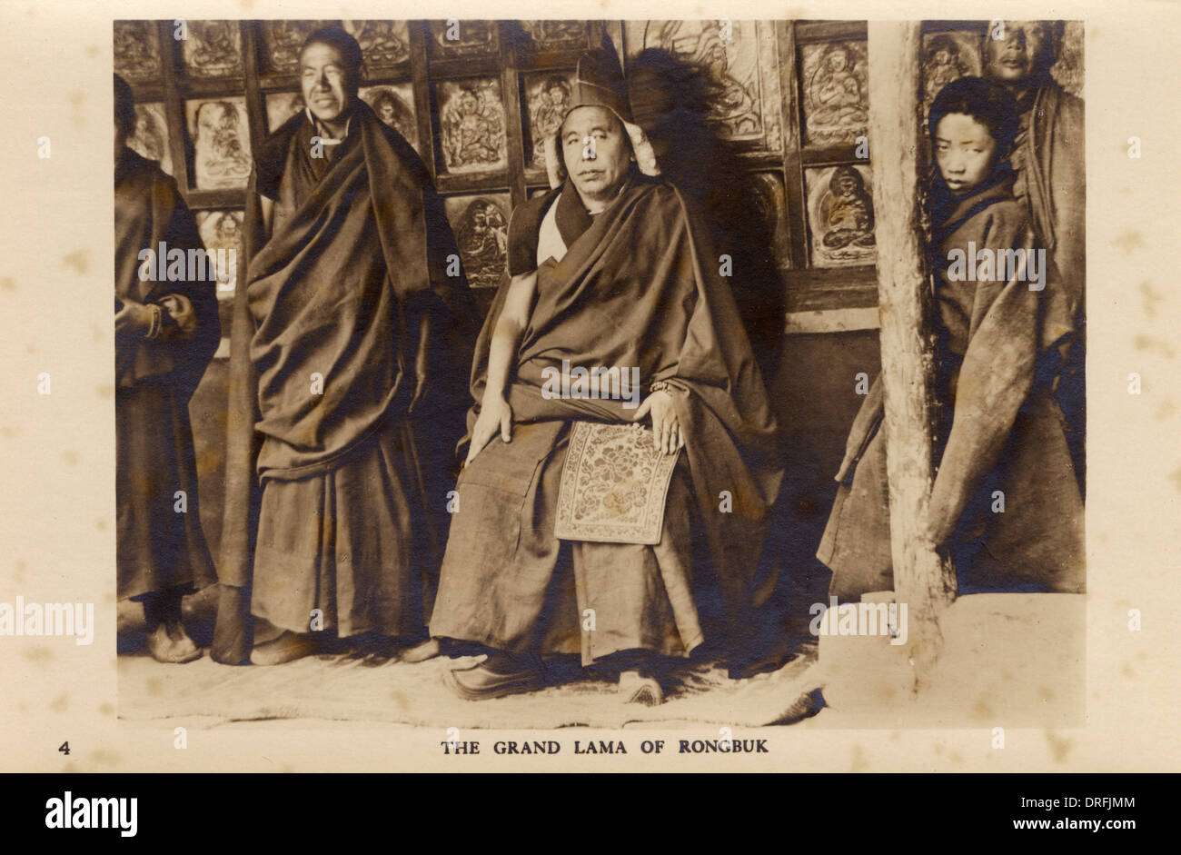 The Grand Lama of Rongbuk - 1922 Everest Expedition - Stock Image