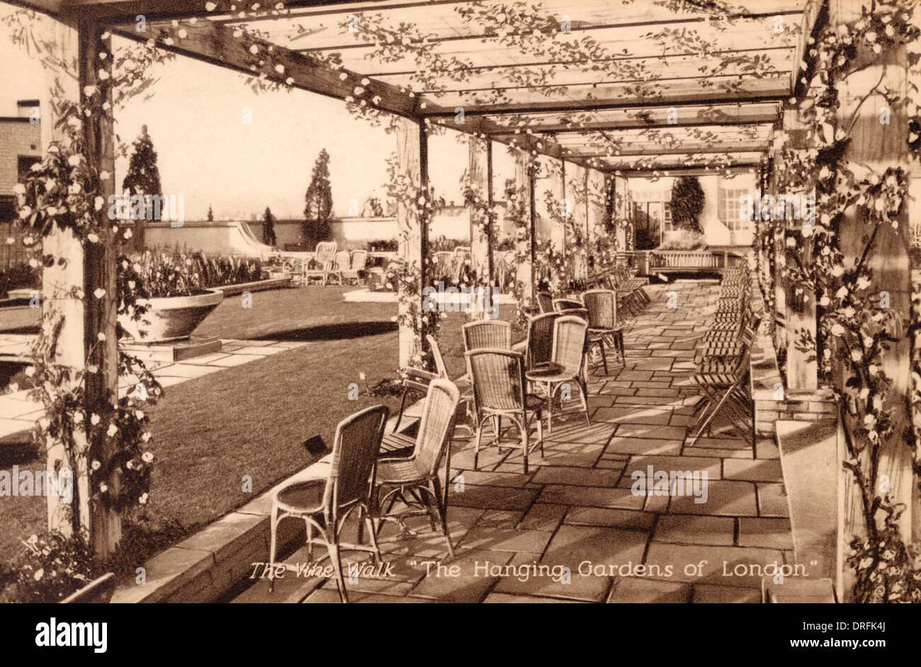 Selfridge's Hanging Gardens of London - Stock Image