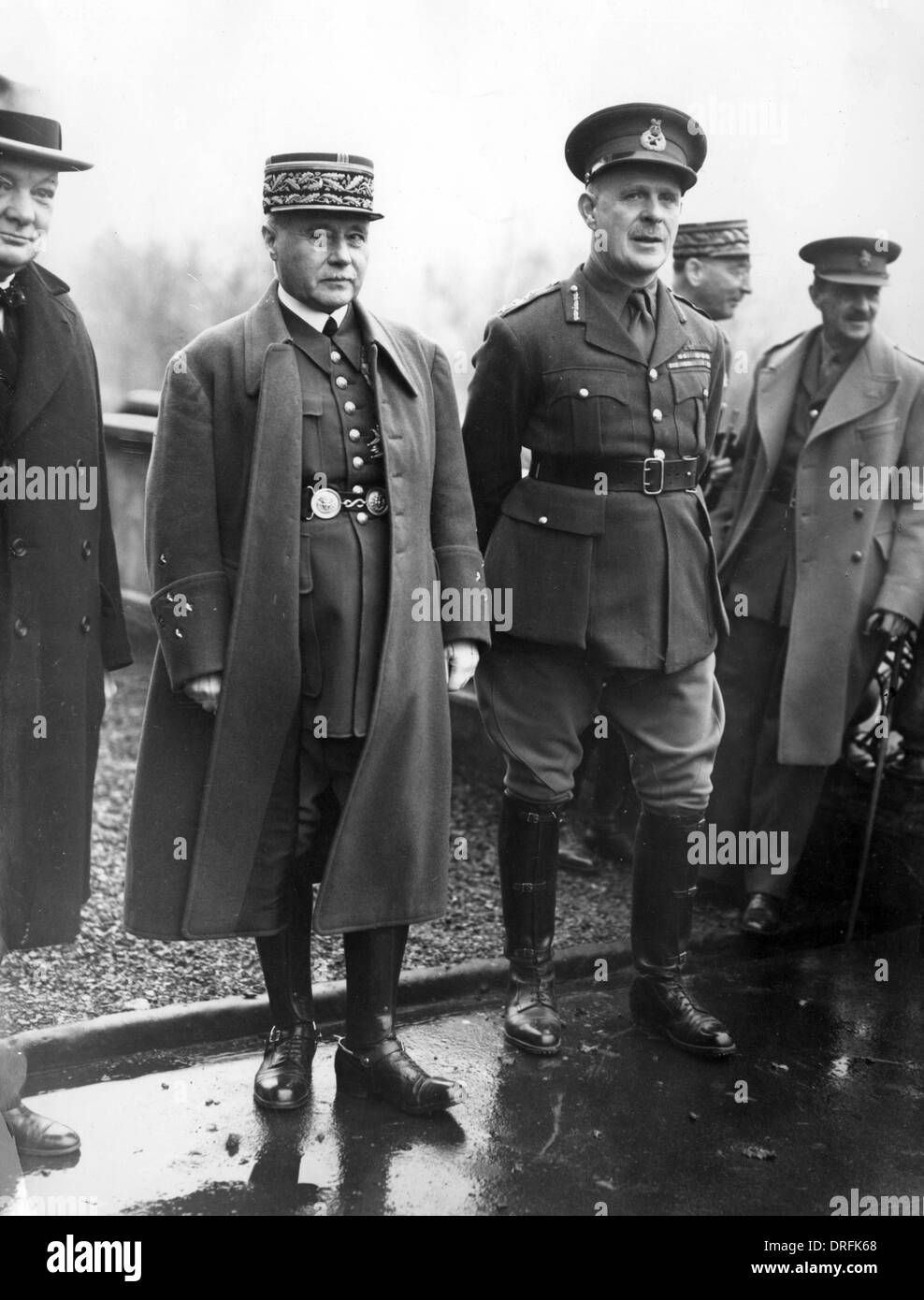 Churchill, General Gamelin and General Gort, WW2 - Stock Image