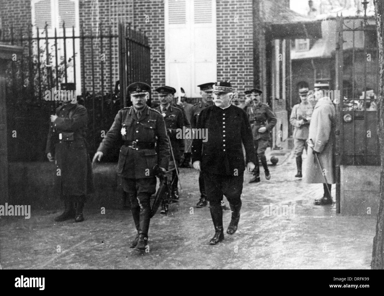 General Haig and General Joffre at Chantilly, France - Stock Image