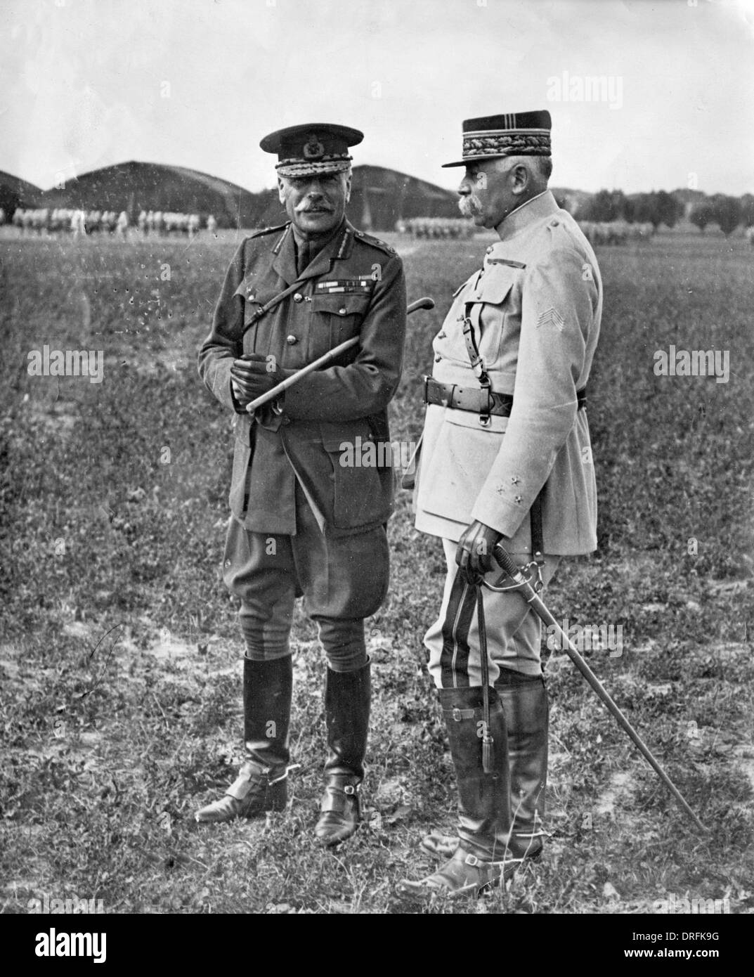 General Sir Douglas Haig, with a French general - Stock Image
