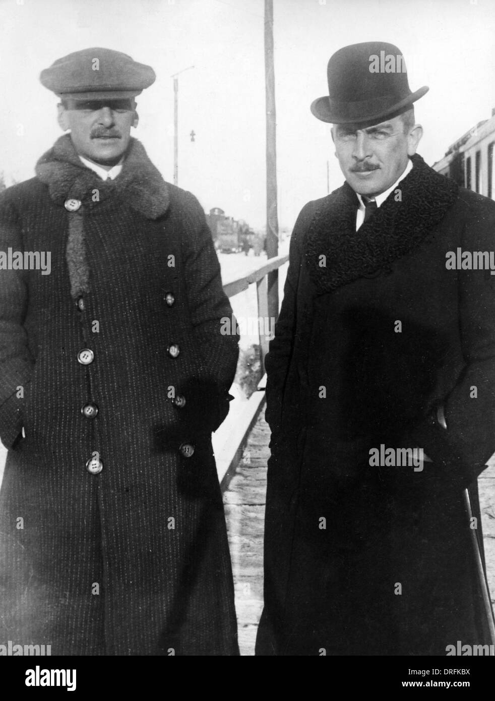 Count von Czernin and Richard von Kuhlmann, Brest Litovsk - Stock Image