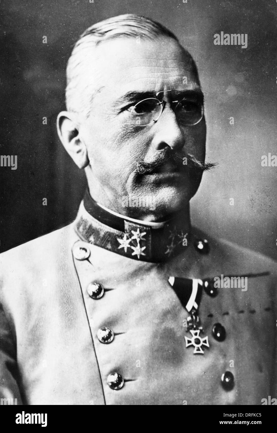 General Viktor Dankl von Krasnik, Austro-Hungarian Army Stock Photo