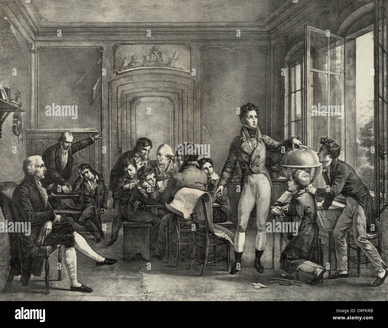 Louis Philippe at the College of Reichenau teaching geography, circa 1810 - Stock Image