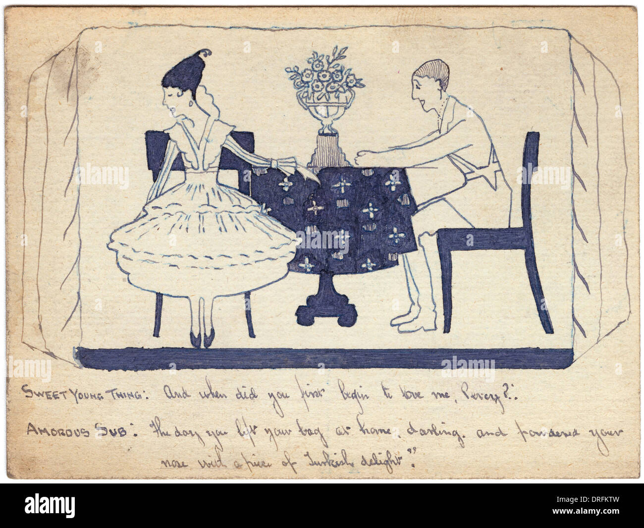 Wartime courtship by George Ranstead - Stock Image