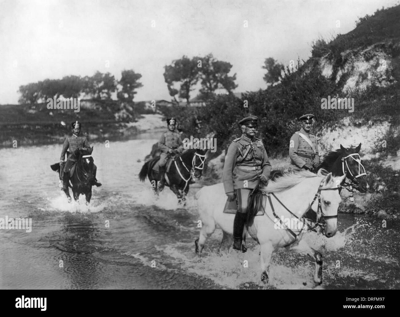 Field Marshal von Mackensen entering Brest Litovsk - Stock Image