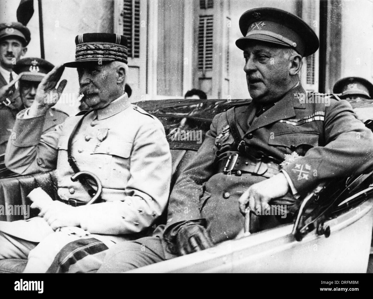 General Petain, French army officer, WW1 - Stock Image