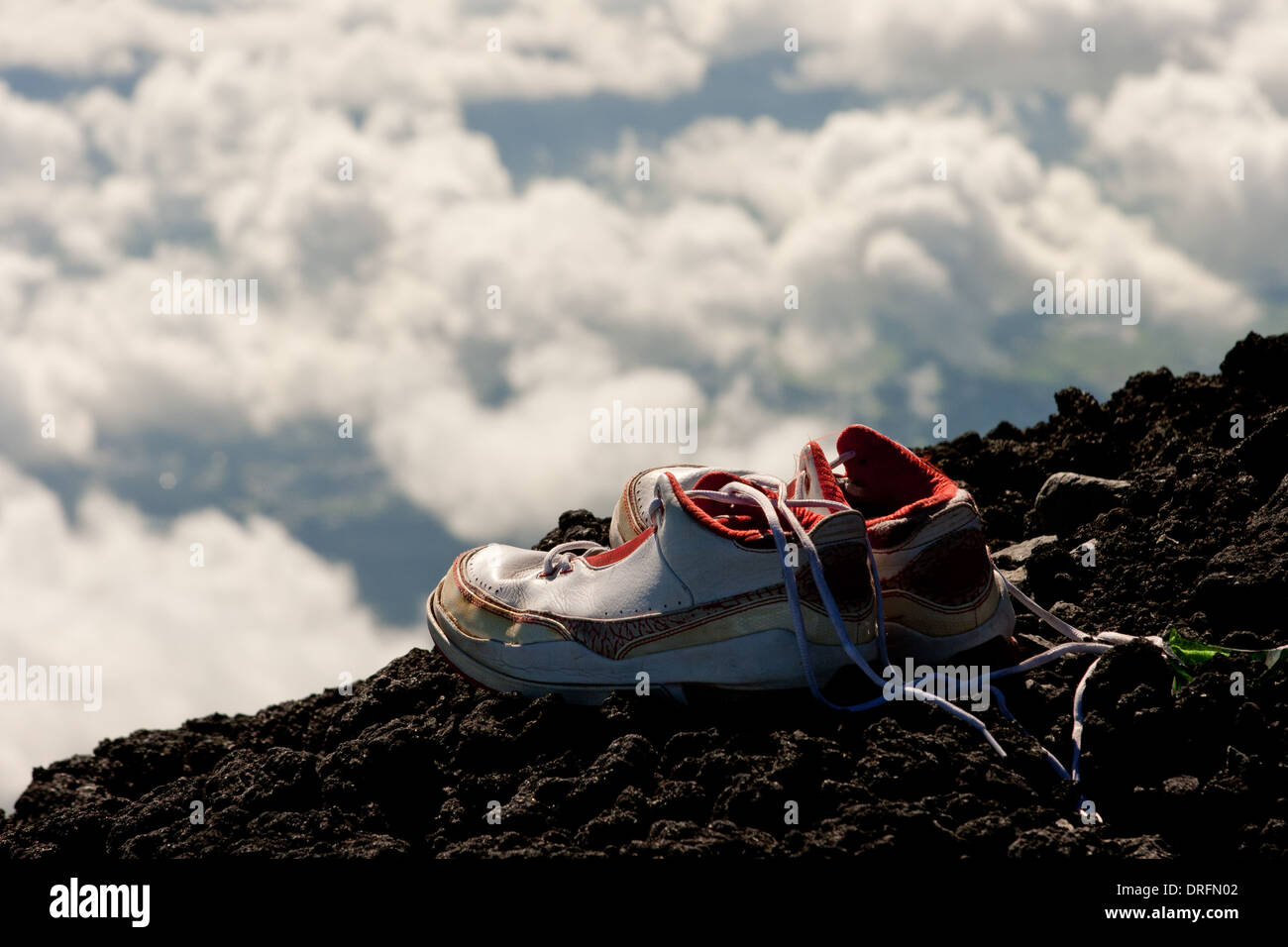 Abandoned Shoes - Stock Image