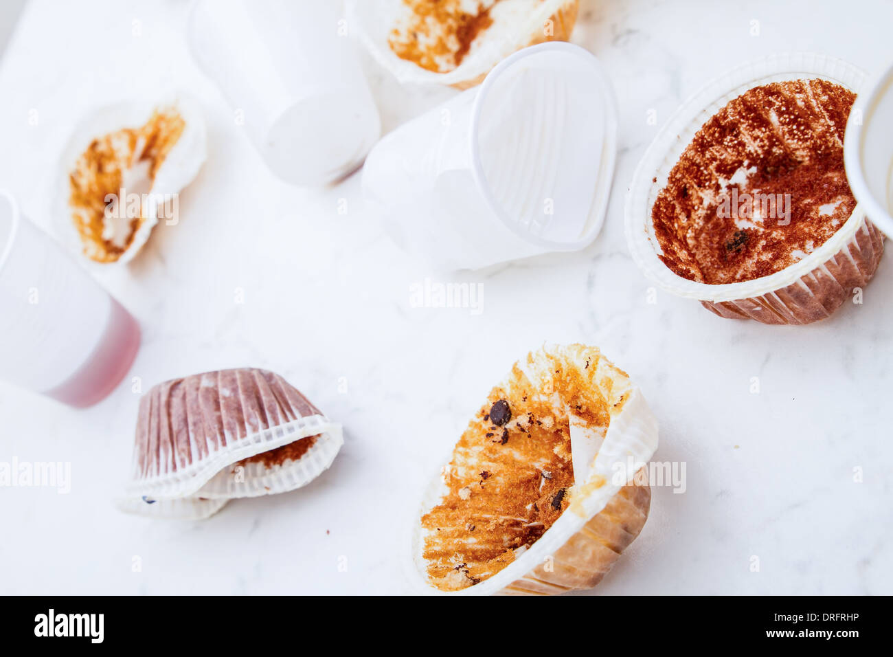 Mess when the party is finished - Stock Image