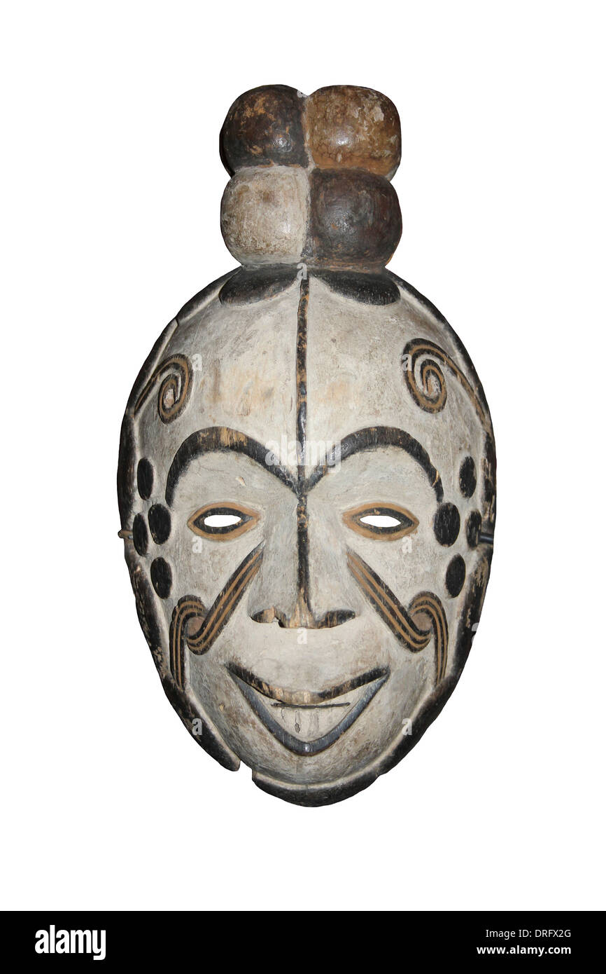 Nigerian Igbo - Okorosia Masquerade Mask Stock Photo
