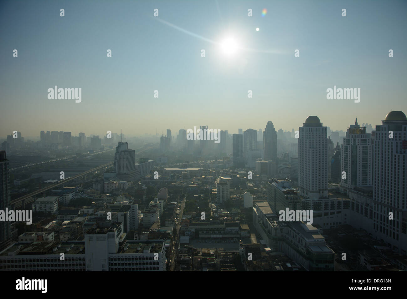 Bangkok city high view - Stock Image