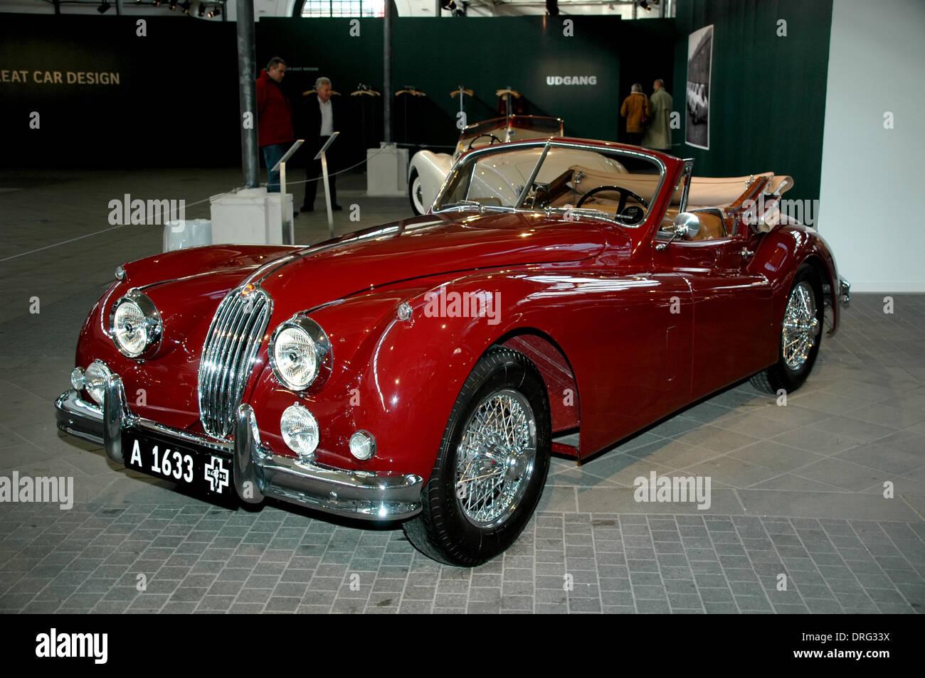 Old Red Jaguar Sports Car