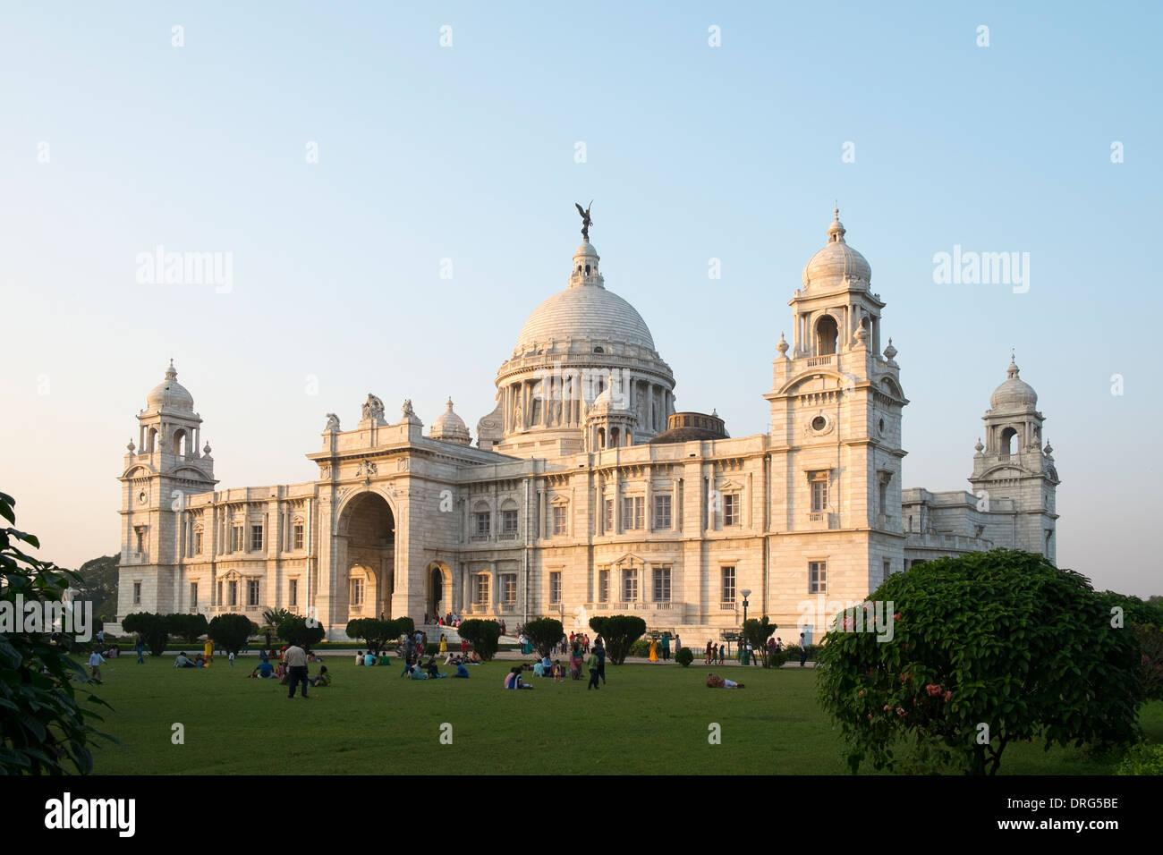 India, West Bengal, Kolkata, Victoria Memorial - Stock Image