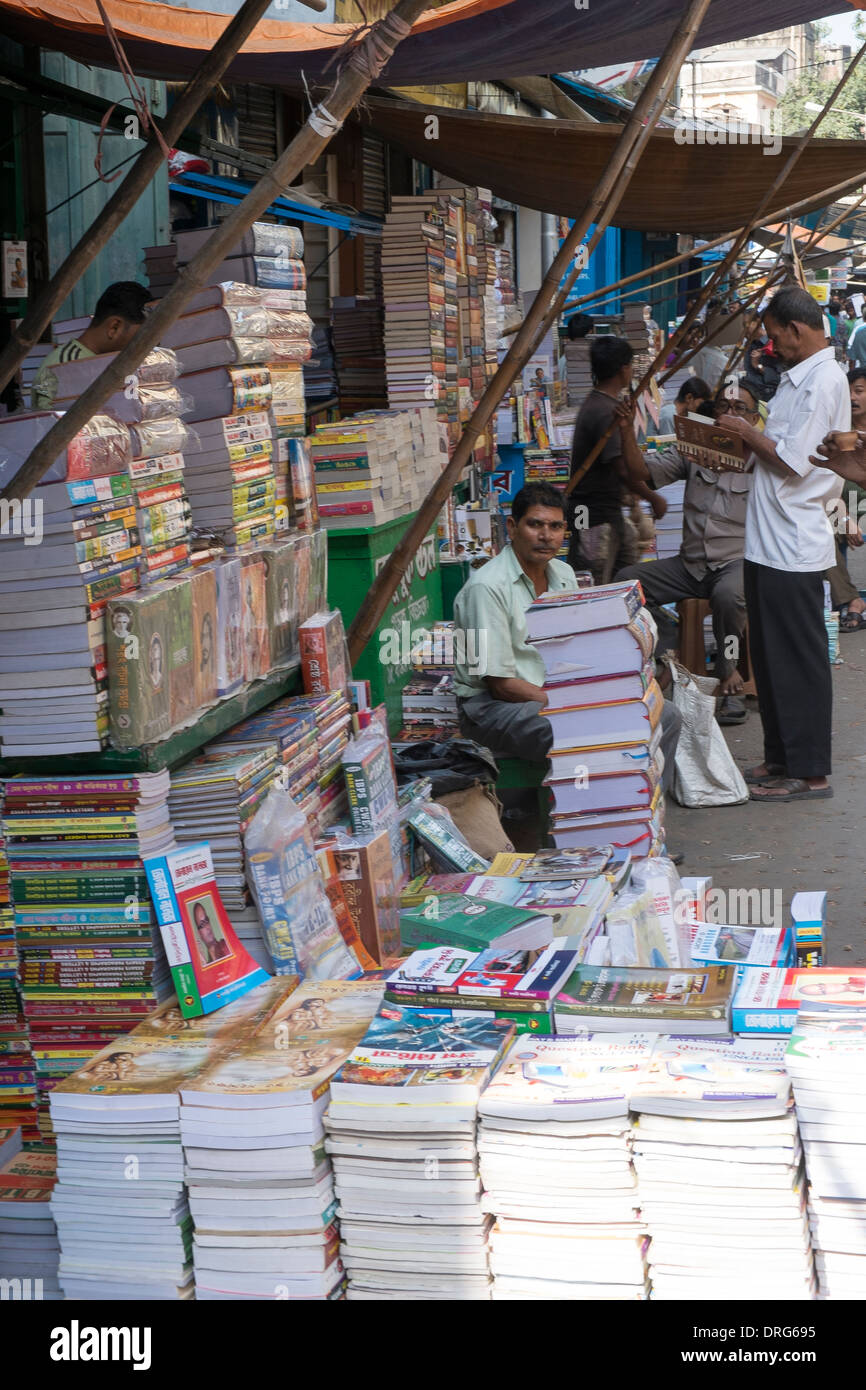 India, West Bengal, Kolkata, Book district - Stock Image
