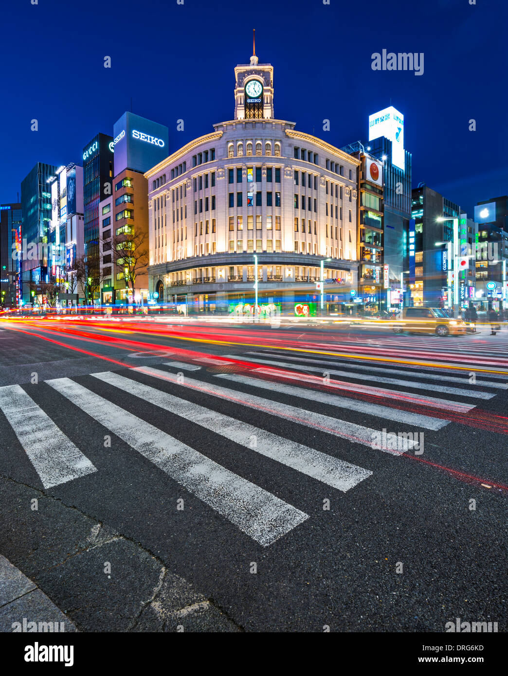 Ginza District of Tokyo, Japan Stock Photo