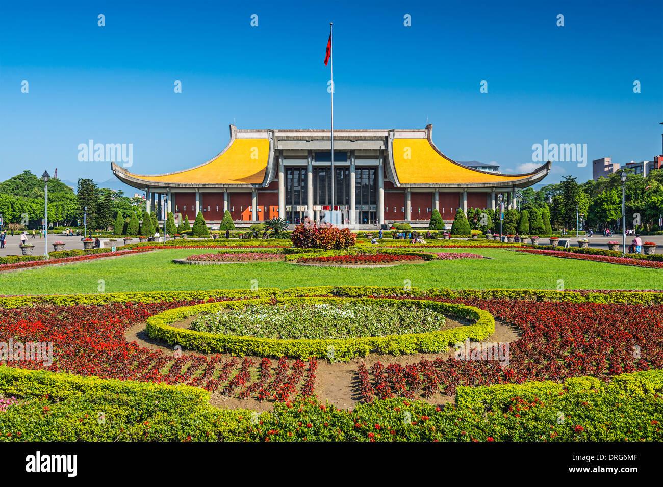 Taipei, Taiwan at Dr. Sun Yat-sen Memorial Hall gardens. - Stock Image