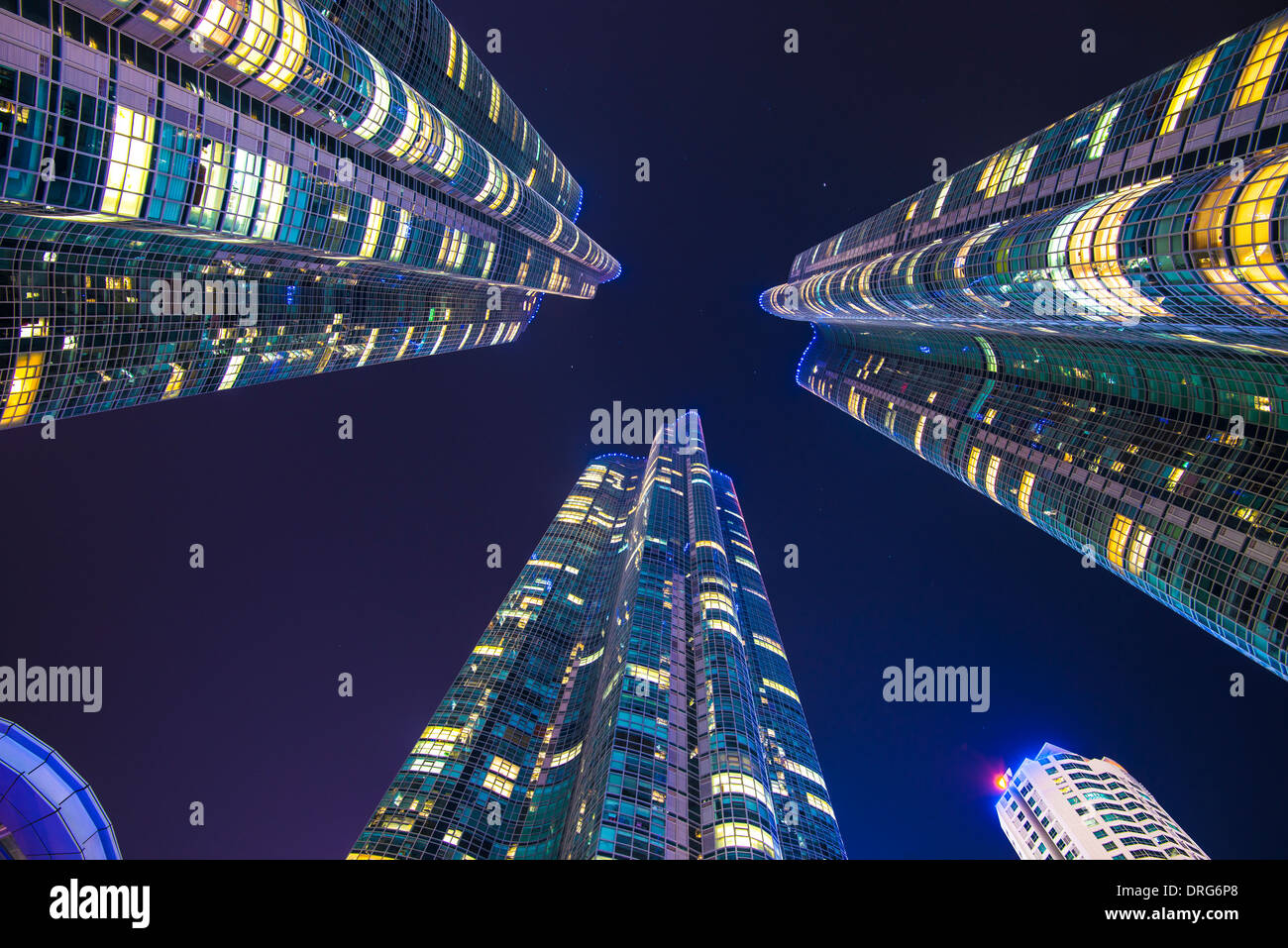 Busan, South Korea skyline at Haeundae District. - Stock Image