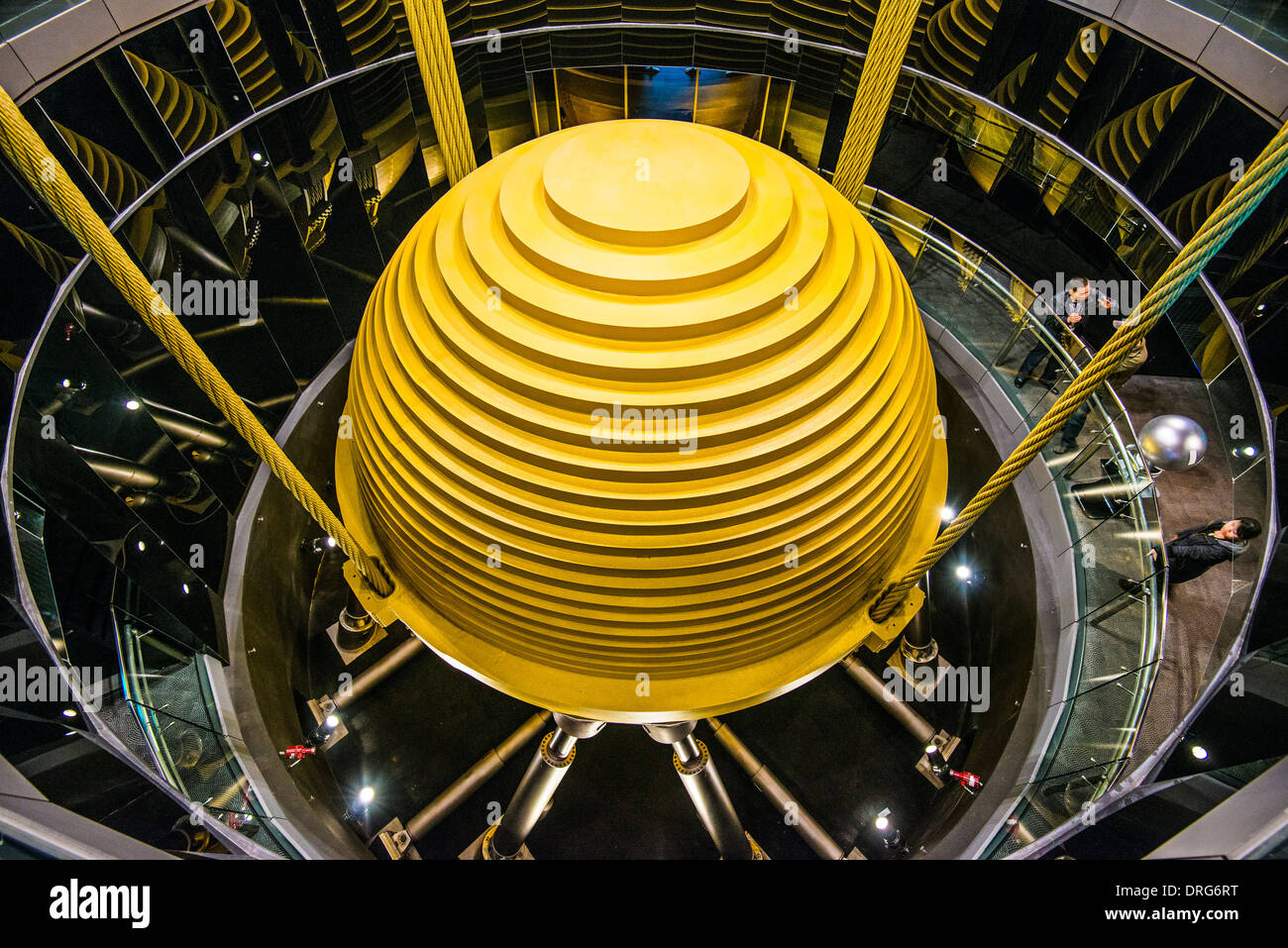 Mass tune damper in Taipei 101 skyscraper. - Stock Image