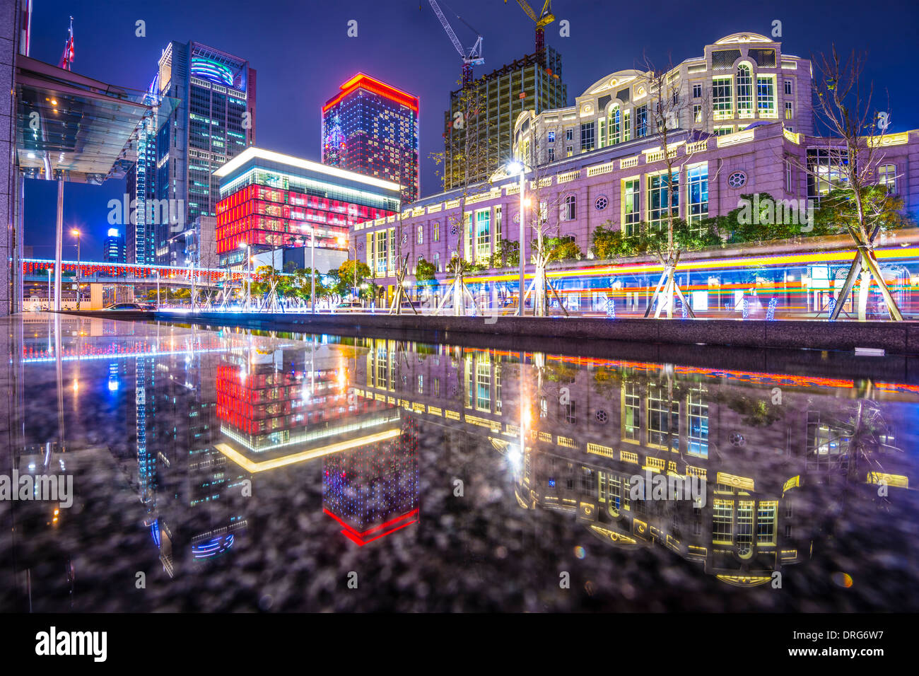 Taipei, Taiwan cityscape at Xinyi Financial District. - Stock Image