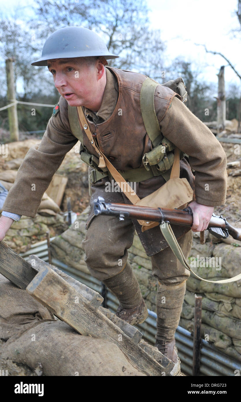 First World War Trench Top Stock Photos Amp First World War border=