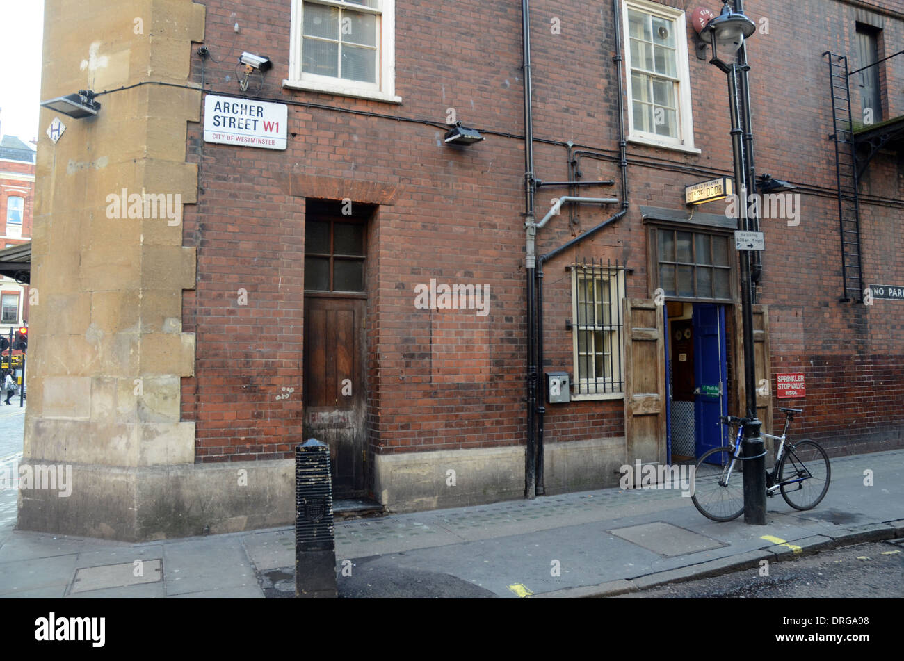 Apollo theatre stage door Shaftesbury Avenue London 21/01/2014 - Stock Image