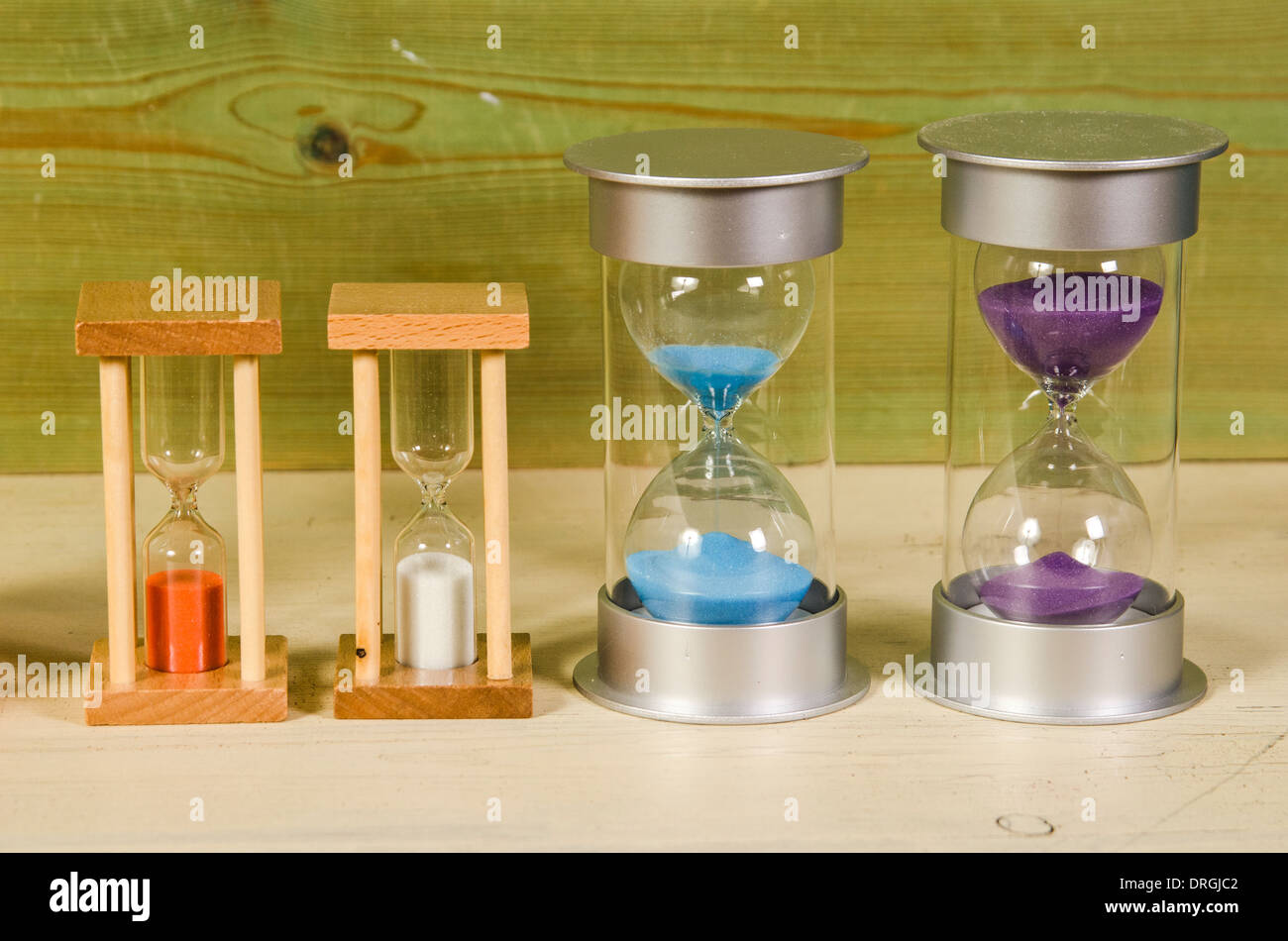 time management and time keeping instruments - Stock Image