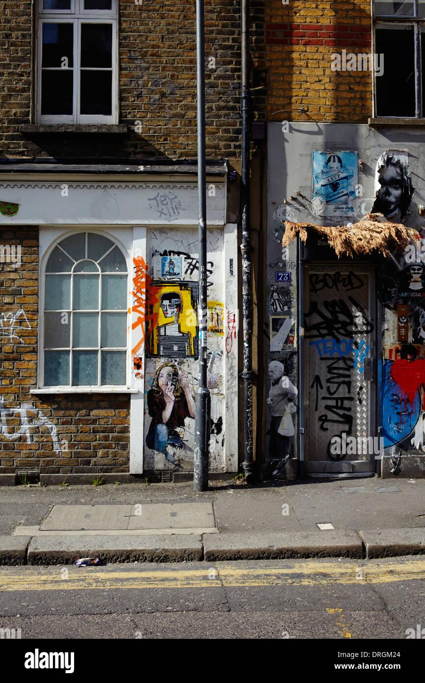 Shoreditch paintings and graffitti Stock Photo