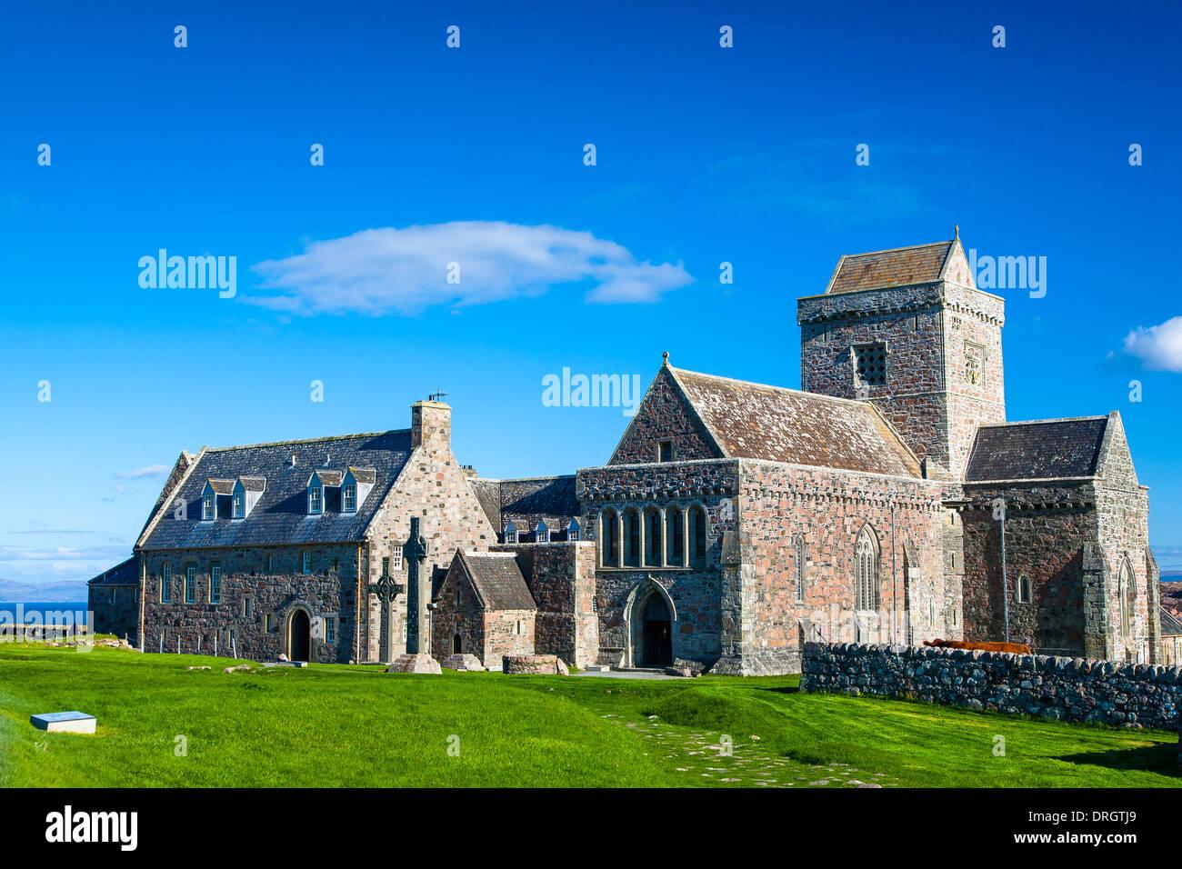 Iona Abbey, Argyll & Bute, Highlands Scotland UK - Stock Image