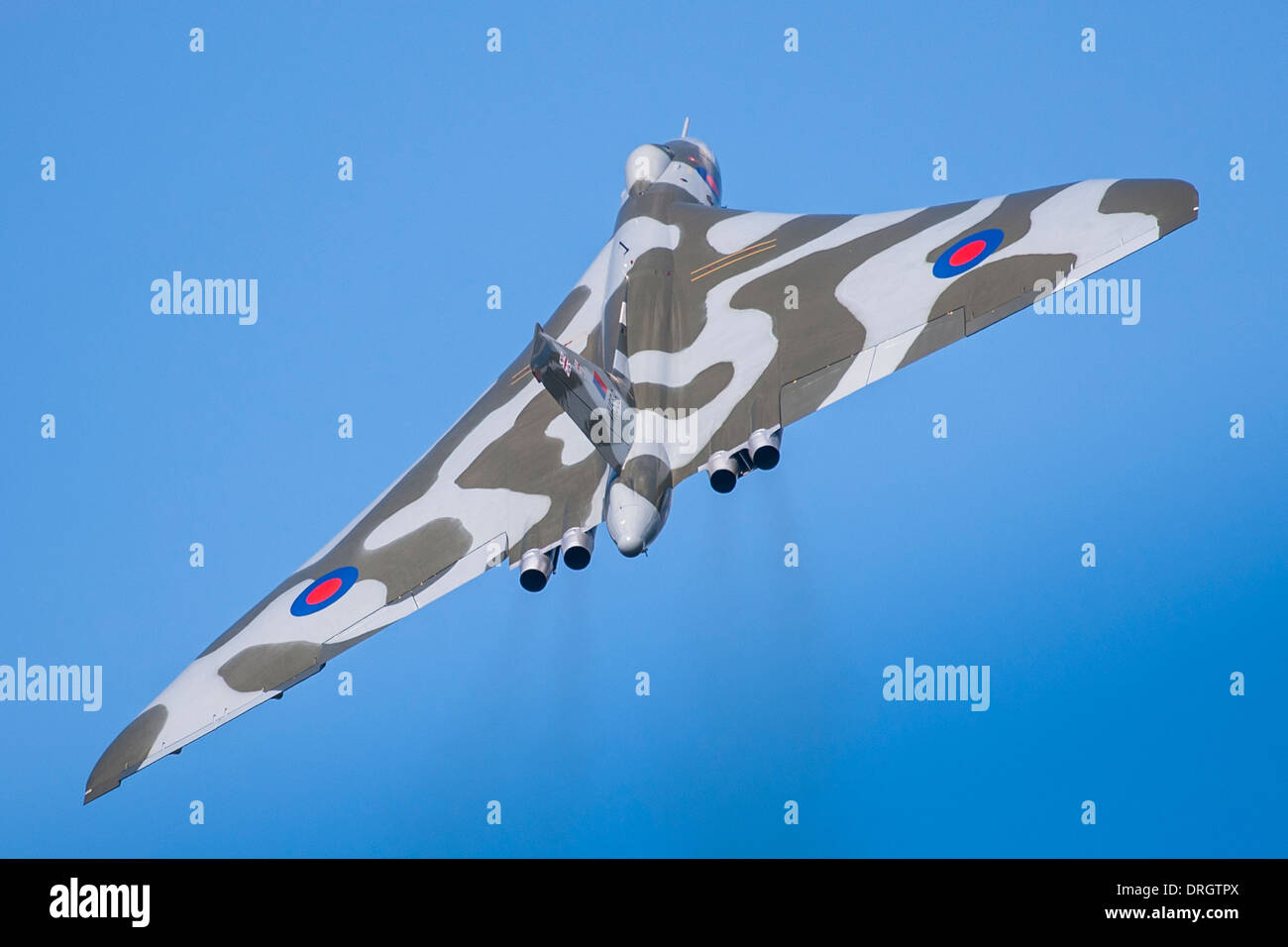 Avro Vulcan B. 2 Delta Wing Subsonic V- Bomber XH558 G-VLCN, Wings & Wheels, Dunsfold UK 2013 - Stock Image