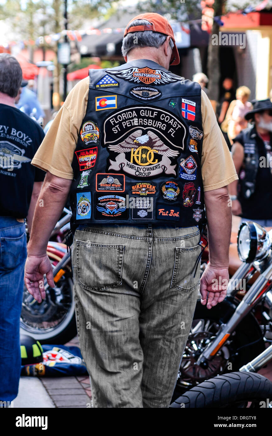Thunder by the Bay motorcycle event in Sarasota Florida - Stock Image