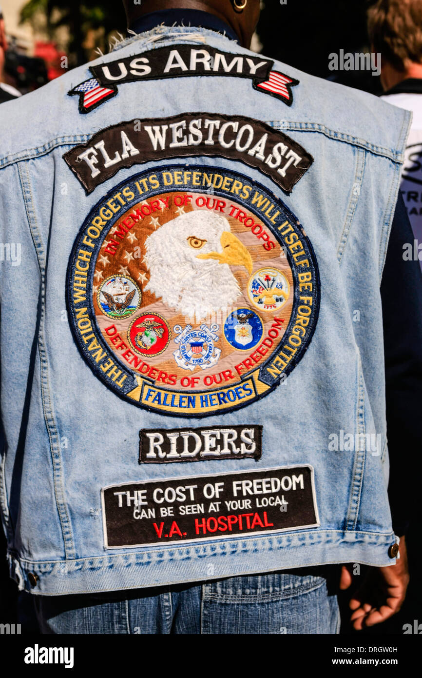 Bike Gang Members at the Thunder by the Bay motorcycle event in Sarasota Florida - Stock Image