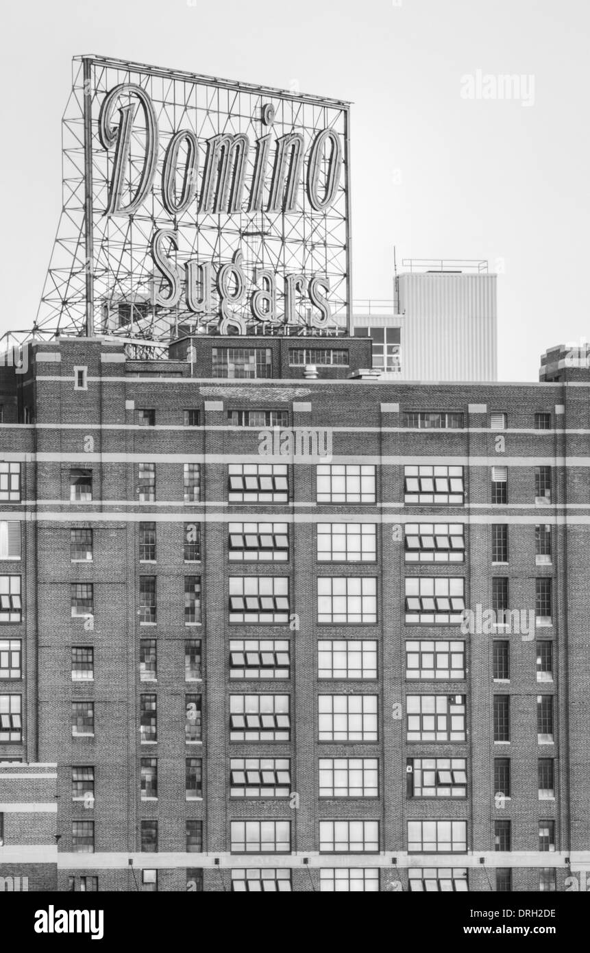 Domino Sugars Factory sign in Baltimore Maryland - Stock Image