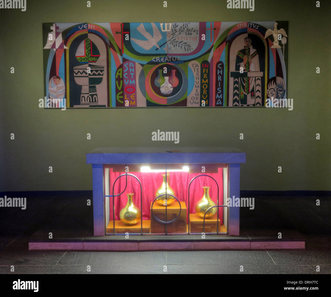 Liverpool Catholic Cathedral Altar, Mount Pleasant - Stock Image