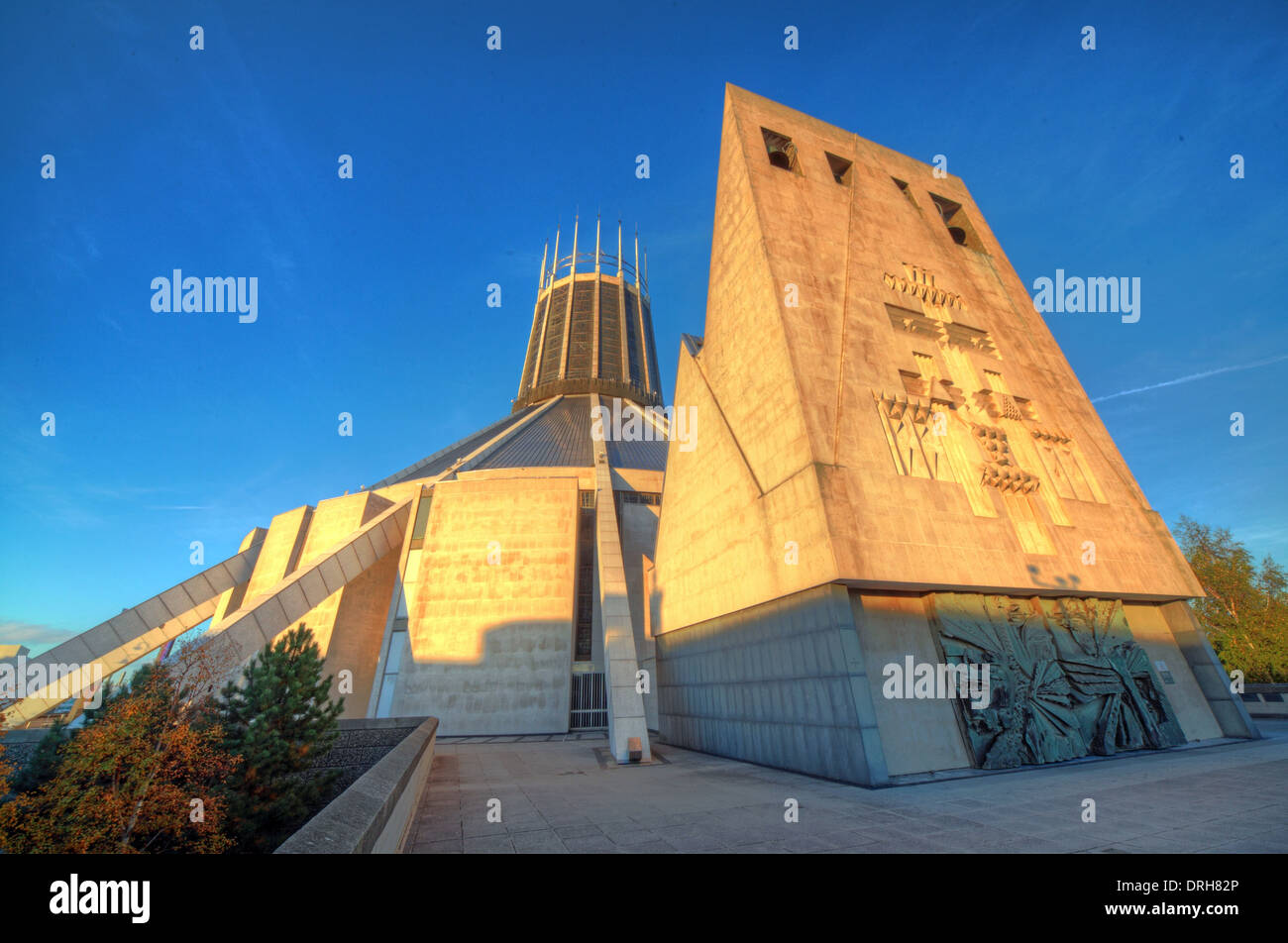Liverpool Catholic Metropolitan Cathedral of Christ The King , England UK Stock Photo