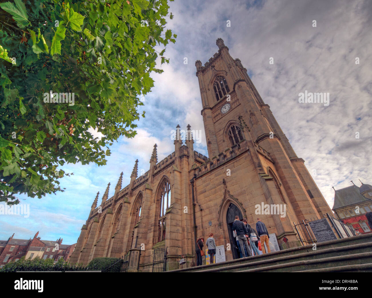 St Luke's Church, Liverpool, is a former Anglican parish church, known locally as the Bombed Out Church - Stock Image