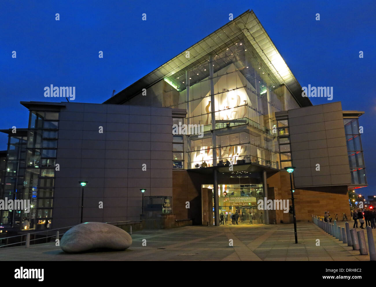 Manchester Bridgewater Hall at dusk Stock Photo