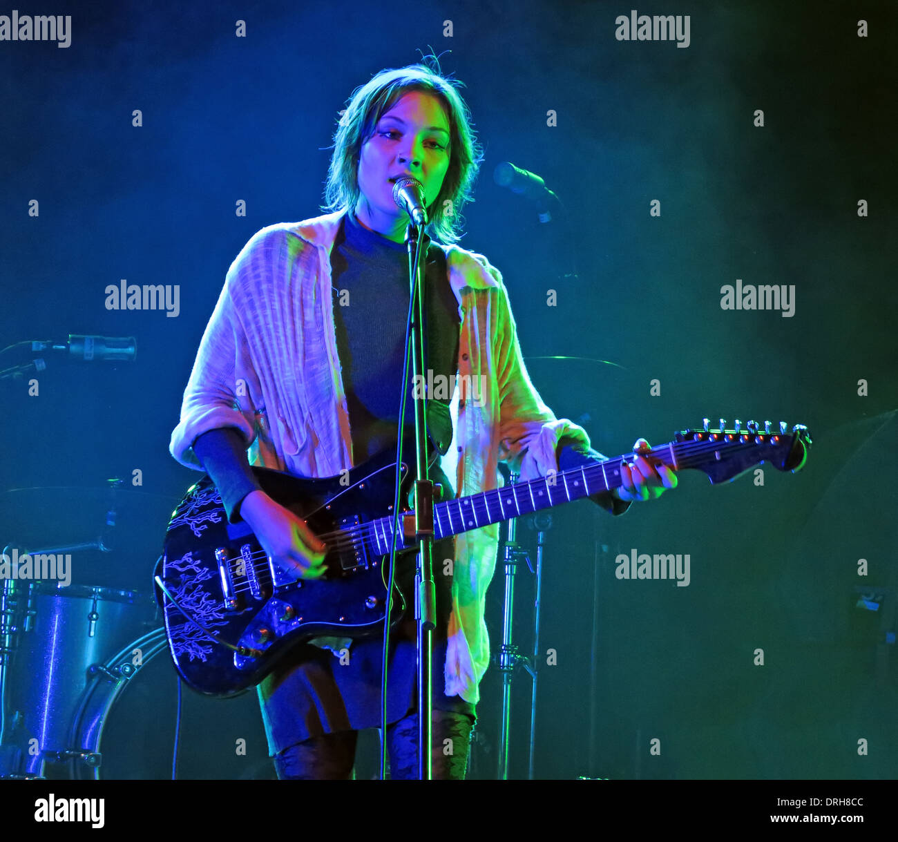 Meredith Sheldon aka Alamar supporting Johnny Marr at Manchester academy Gig 12/10/2013 Stock Photo