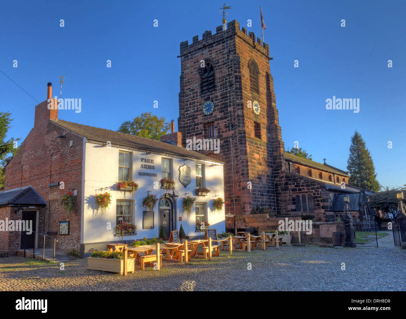 Parr Arms Pub Grappenhall Village Warrington Cheshire North West England UK - Stock Image