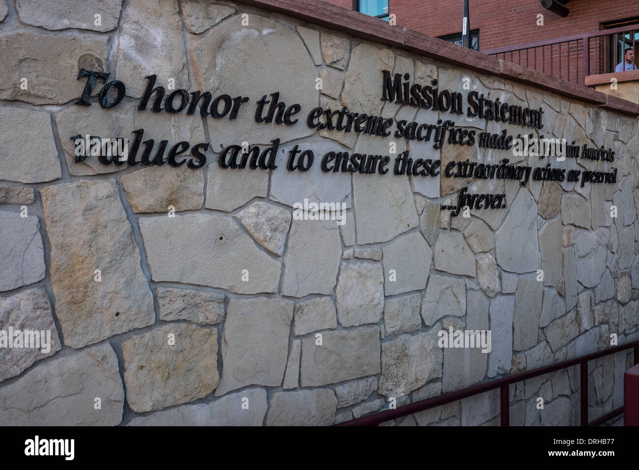 Mission statement for Center for American Values in Pueblo, Colorado. - Stock Image