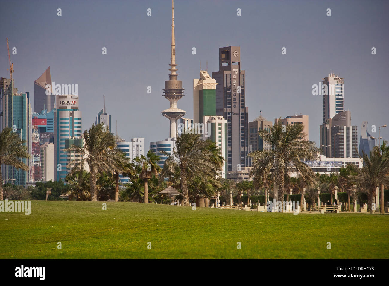 Kuwait skyscrapers, Middle east, Kuwait City Stock Photo: 66151543