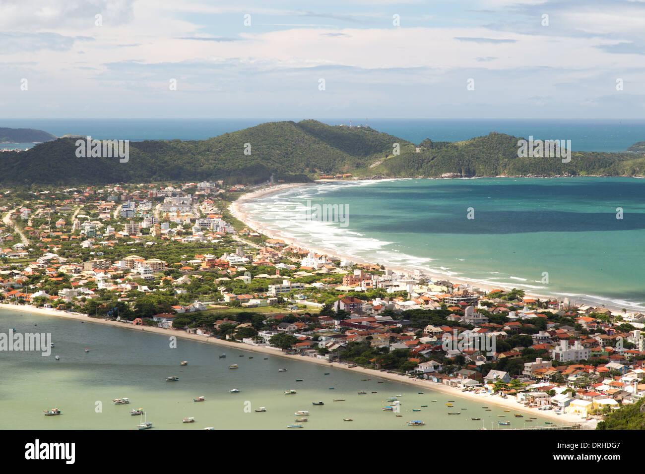 Canto Grande beach, Bombinhas, state of Santa Catarina, Brazil - Stock Image